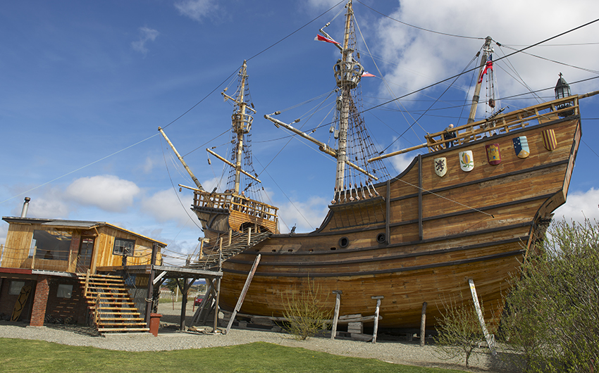 Nao Victoria, Magellan s ship replica in Punta Arenas, Chile
