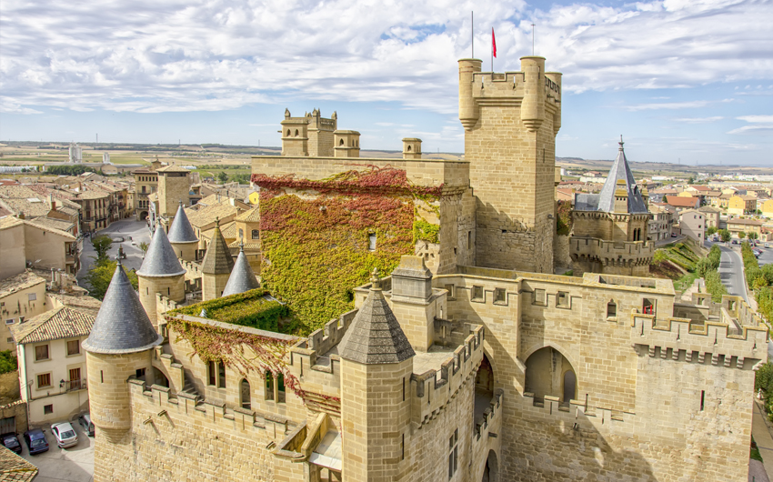 French Gothic Castle-Palace, home of the Kings of Navarra during centuries, Olite