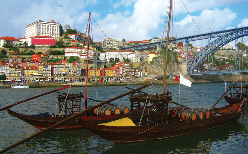 Wine boats in Porto City