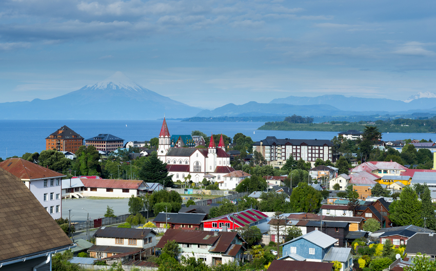 View of the city of Puerto Varas, Chile