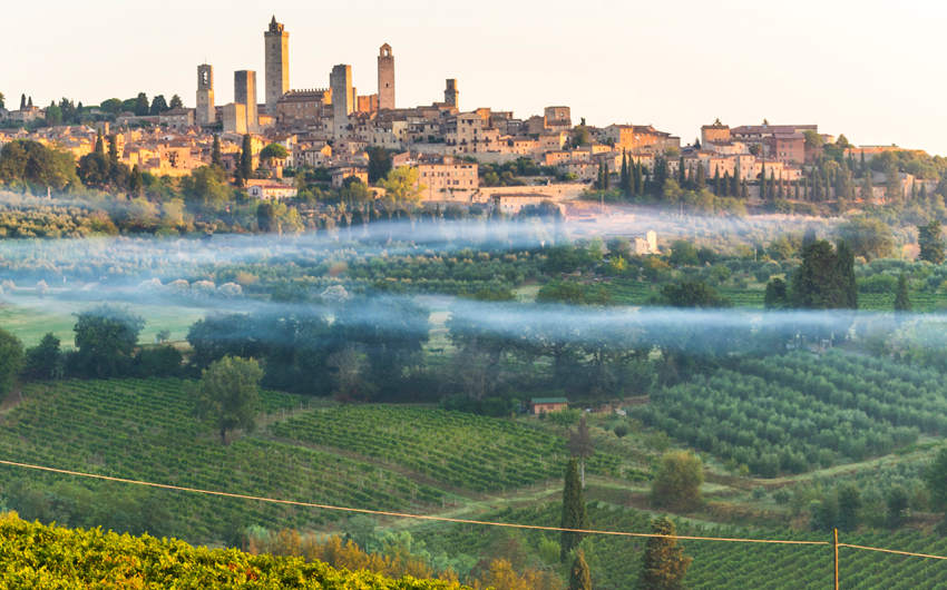 Sunrise in San Gimignano