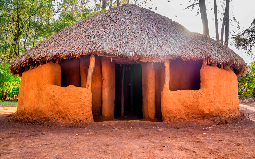 Traditional tribal hut of Kenyan people