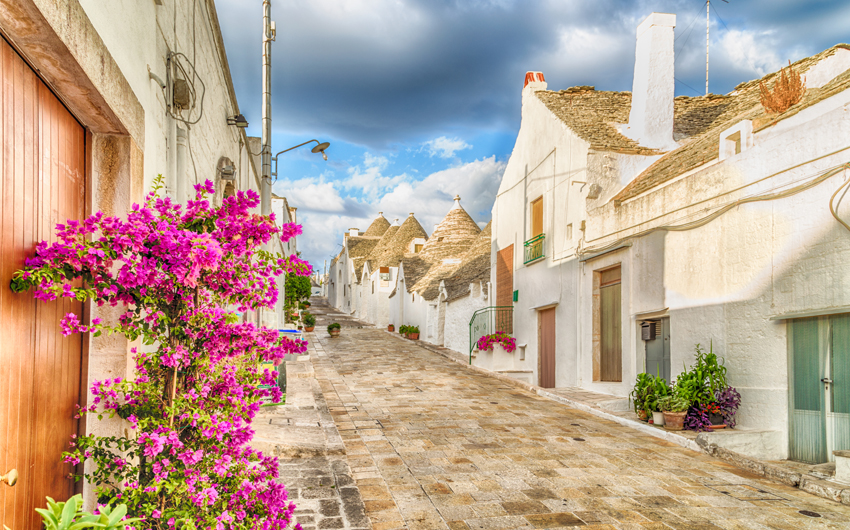 The Trulli houses of Alberobello in Apulia
