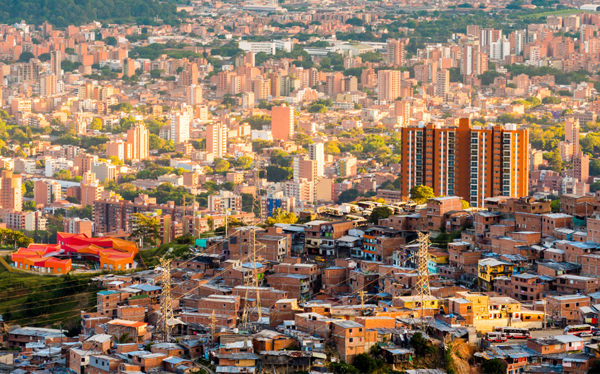 Medellin, the second biggest city in Colombia