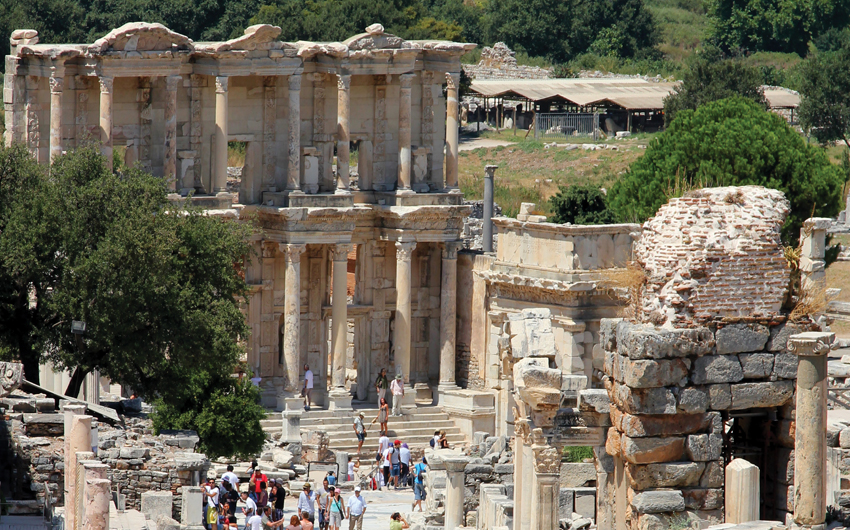 Library building at Ephesus in Turkey