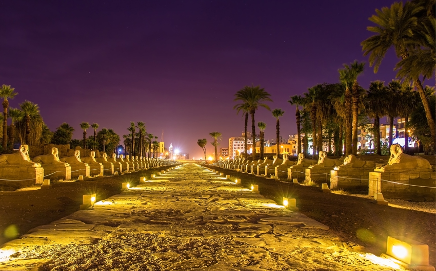 Alley of the Sphinxes in Luxor