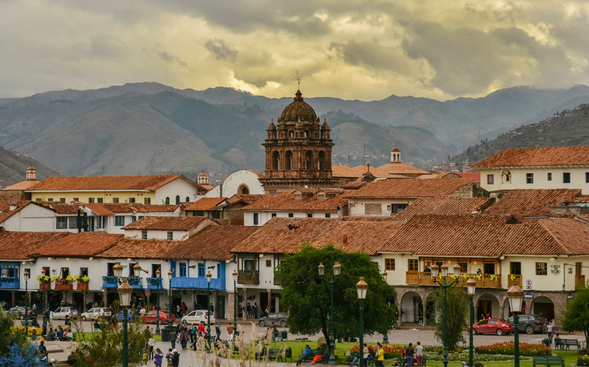Square of the warrior known as Plaza de Armas, in Cusco
