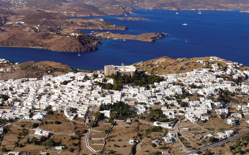 Aerial view of Patmos island