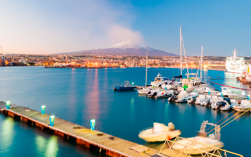 Skyline of Catania