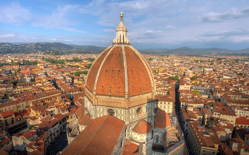 Florence aerial with Duomo