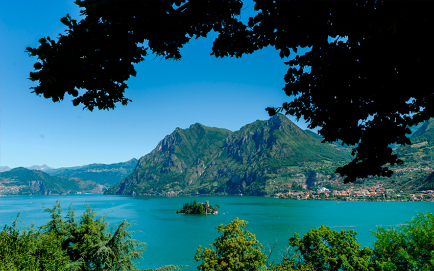 Coastline along Lake Iseo
