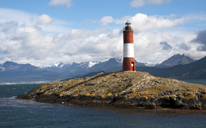 Lighthouse in the Beagle Channel Ushuaia