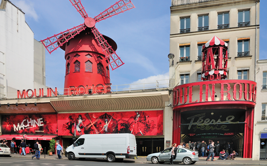 The famous Nightclub Moulin Rouge