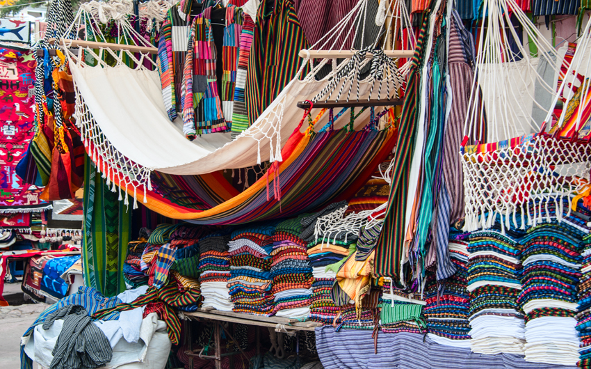 Famous Indian market in Otavalo