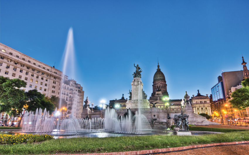 Congress square at Buenos Aires, Argentina