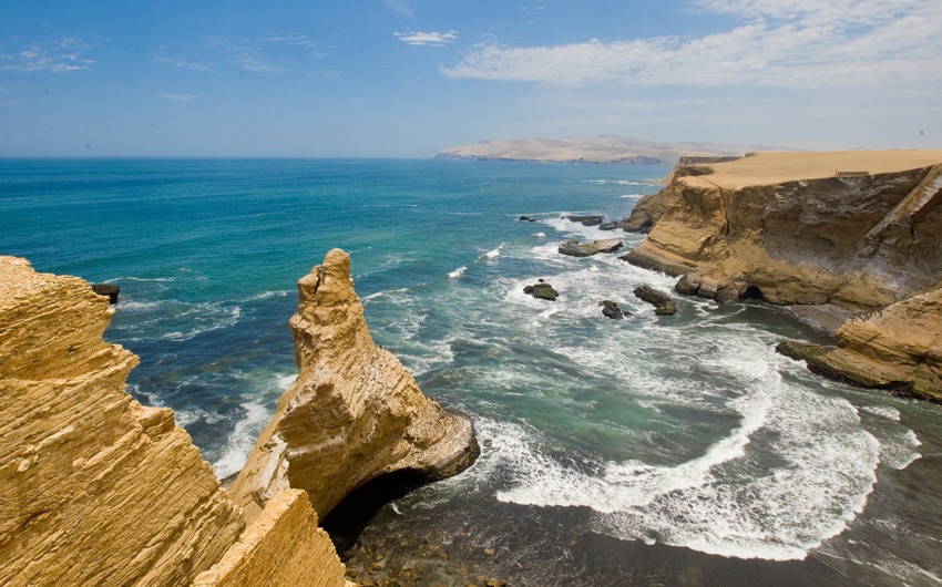 Rock formations at the coast, Paracas National Reserve