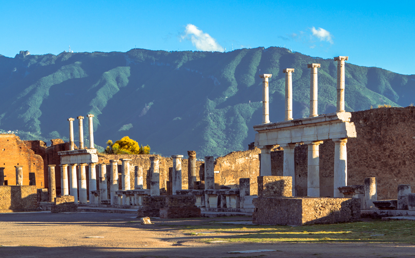 The ruins of ancient Pompeii
